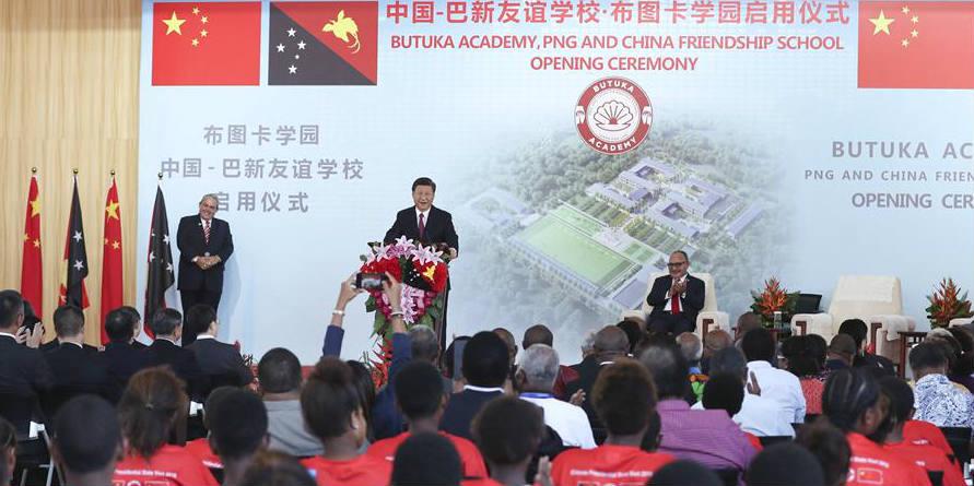Xi e O'Neill desvelam escola de amizade PNG-China