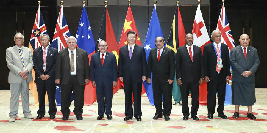 China e países insulares do Pacífico elevam laços para parceria estratégica abrangente