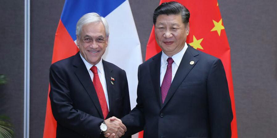 Presidente chinês se reúne com homólogo chileno e promete relações mais estreitas