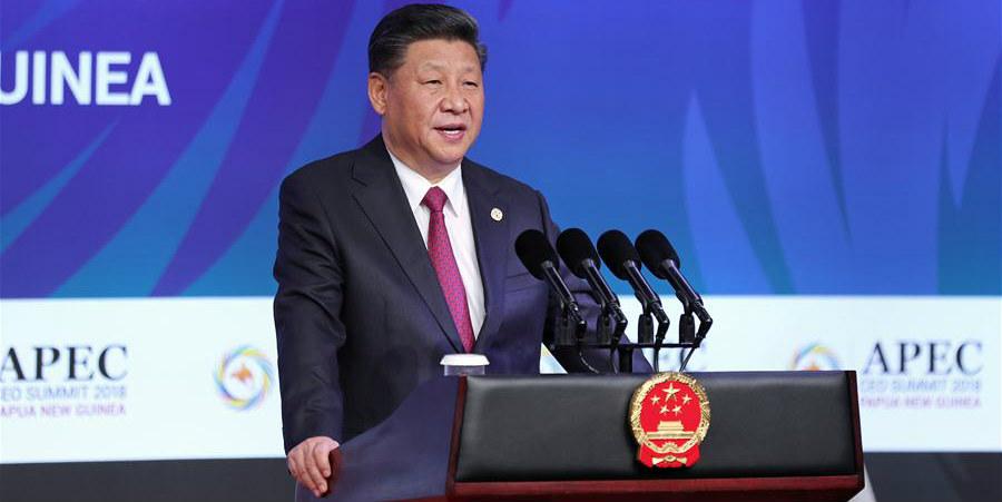 Presidente chinês pronuncia discurso na Cúpula de CEOs da APEC