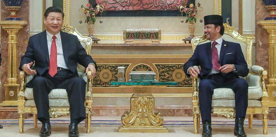 China e Brunei elevam laços a parceria cooperativa estratégica