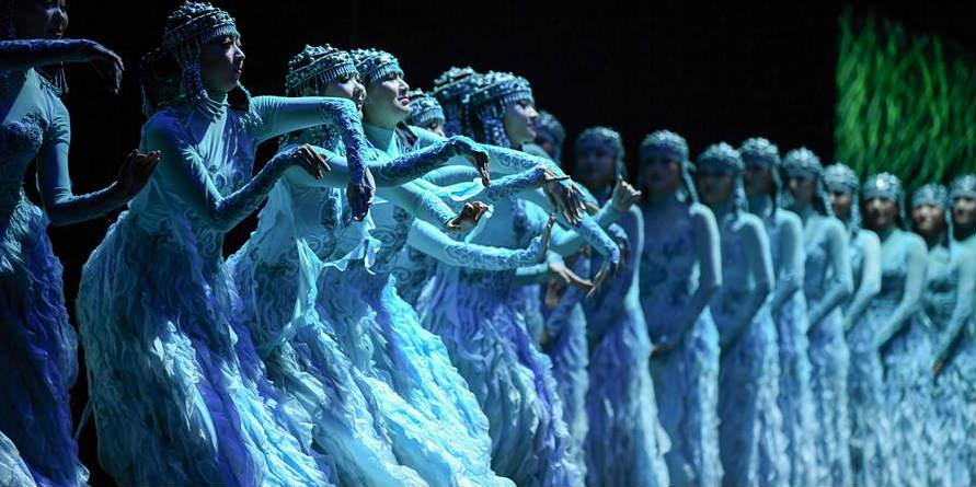 Apresentação de drama de dança realizada em Hohhot, na Mongólia Interior da China