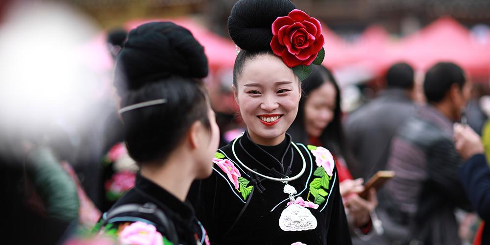 Grupo étnico Miao celebra Ano Novo em Guizhou