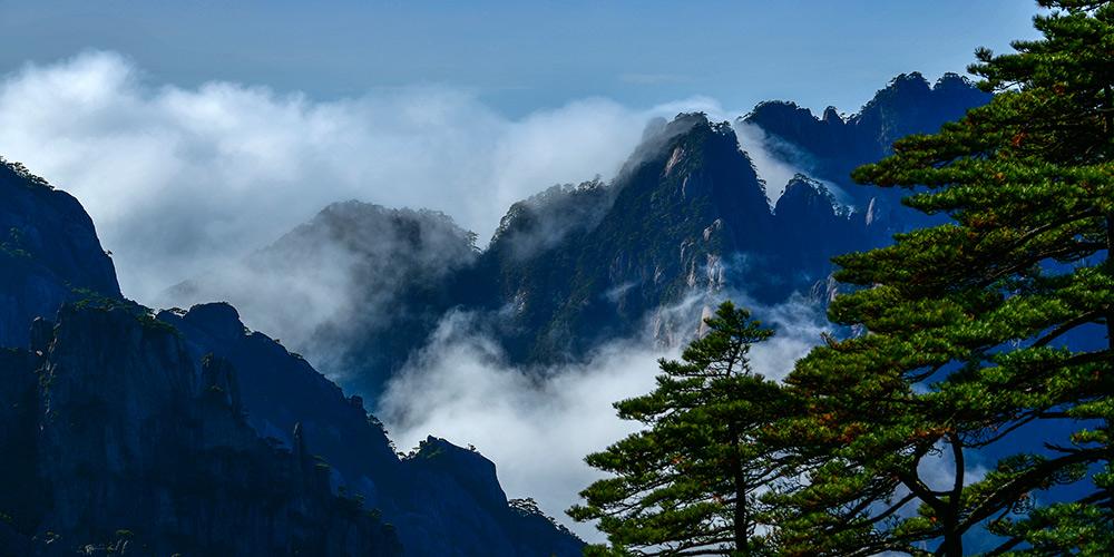 Fotos: Nuvens sobre as montanhas Huangshang