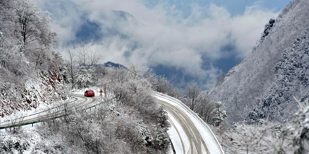 Paisagem de neve em Hubei, centro da China
