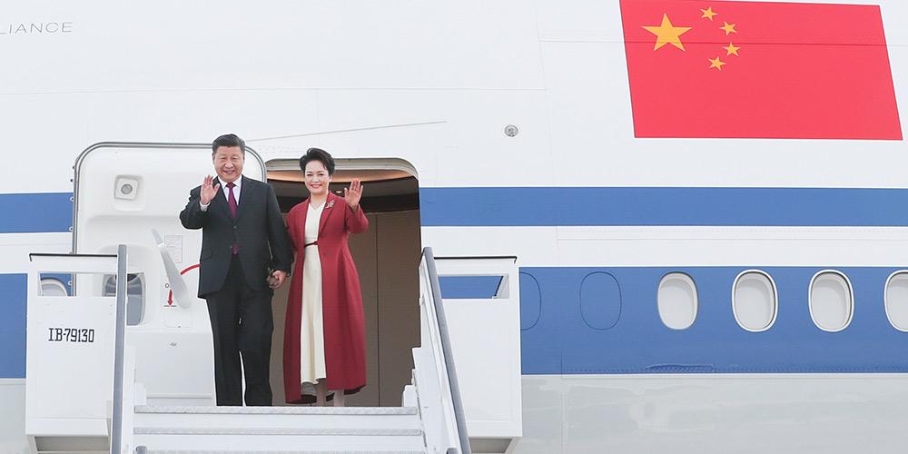 Presidente chinês chega à Espanha para visita de Estado