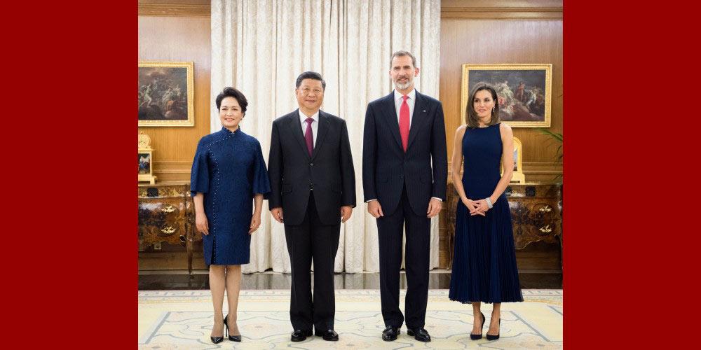 Xi reúne-se com rei espanhol para consolidar amizade e fortalecer cooperação