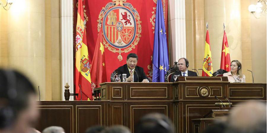 Presidente chinês: Relações China-Espanha têm novas oportunidades de desenvolvimento