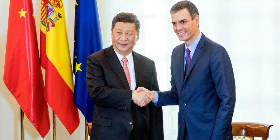 China e Espanha concordam em promover relações durante visita de Xi
