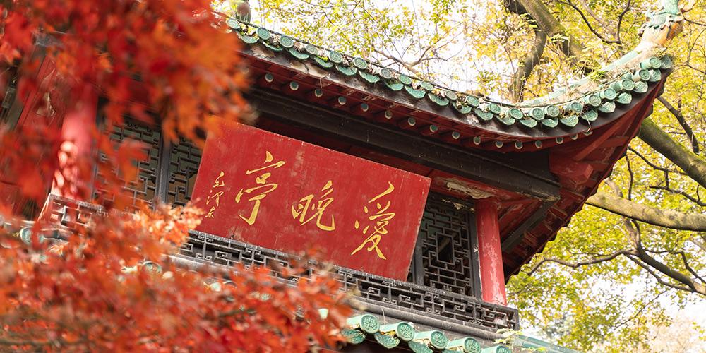 Paisagem de outono na montanha Yuelu em Changsha