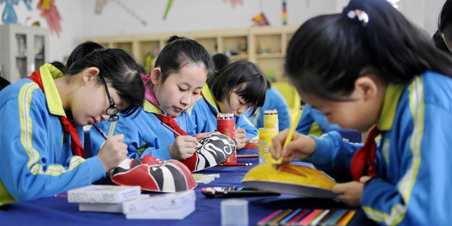 Escolas primárias de distrito de Hebei organizam atividades culturais para estimular aprendizagem dos alunos