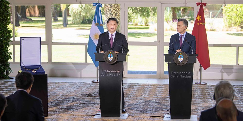 Xi recebe máxima condecoração da Argentina