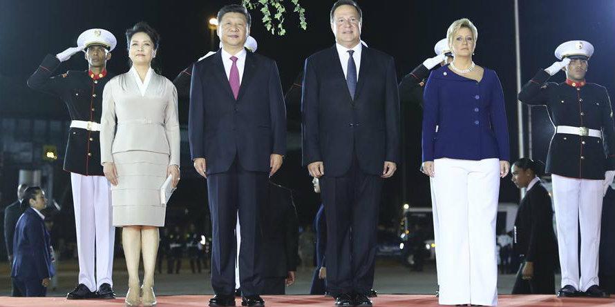 Presidente chinês chega ao Panamá para visita de Estado