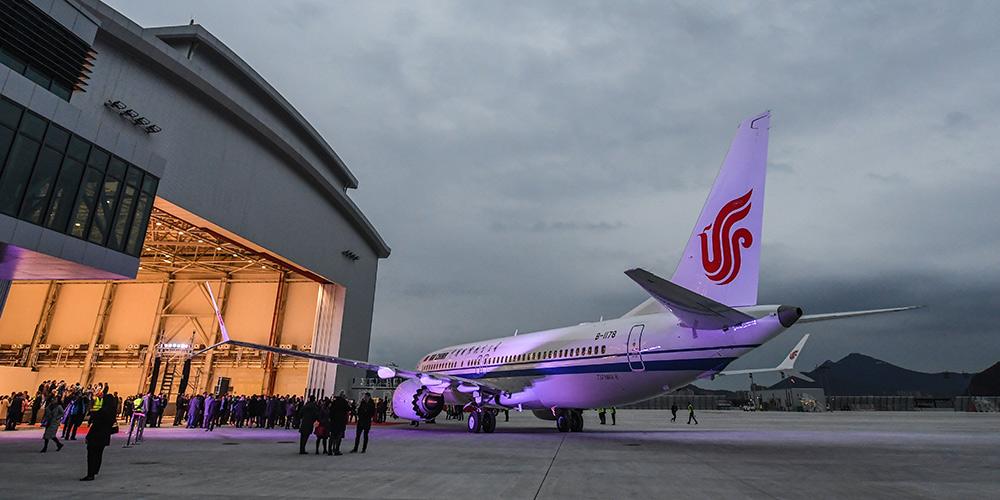 Fábrica da Boeing na China entrega seu primeiro avião