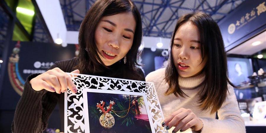 A feira internacional de jóias é realizada em Beijing