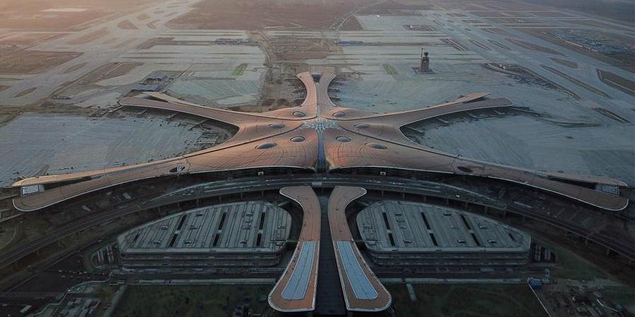 Projeto de decoração das fachadas do Aeroporto Internacional Daxing de Beijing é concluído
