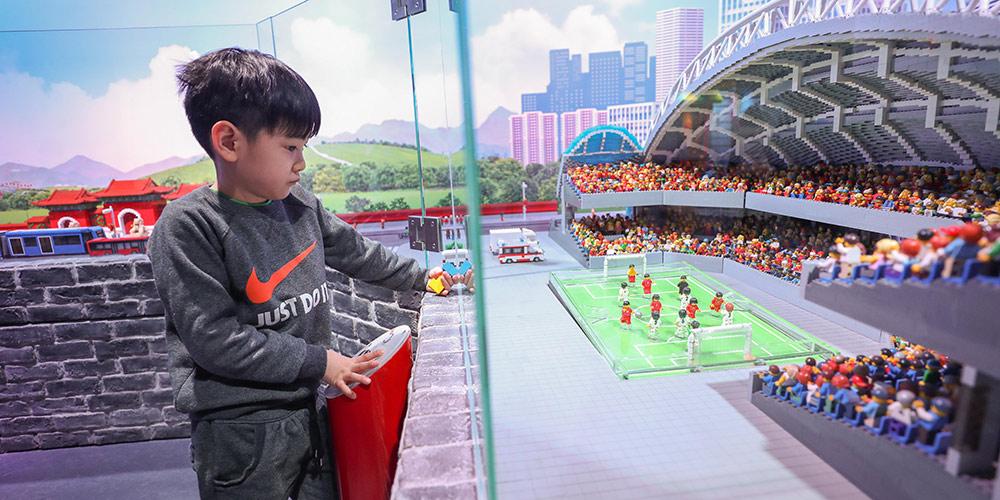 Fotos: Miniaturas de monumentos da cidade de Shenyang construídas com peças de lego