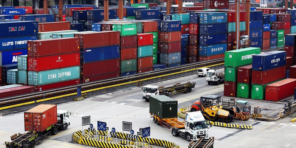 Exportação de bens de Hong Kong diminui 2,9% em novembro