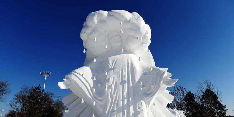 Destaques da competição internacional de escultura de neve em Harbin, Heilongjiang da China