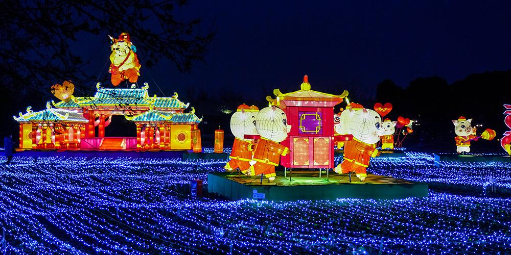 Festival de lanternas em Wuzhen, leste da China