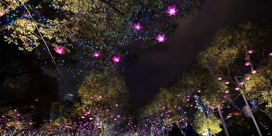 Lanternas lindas criam atmosfera festiva em Jiangxi