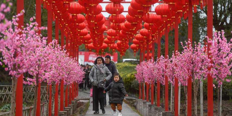 Atividades tradicionais realizadas em Zhejiang para celebrar Ano Novo Lunar Chinês, leste da China