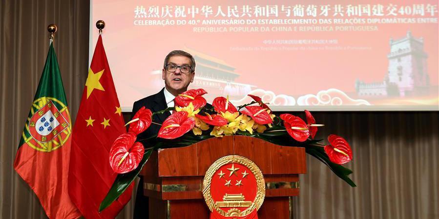 Embaixada da China em Portugal realiza recepção para marcar 40 anos de laços diplomáticos