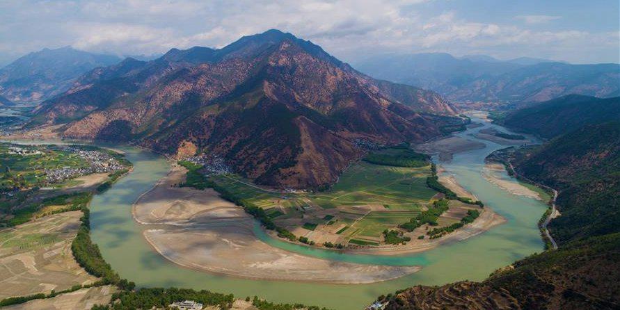 Fotos: Curva do Rio Jinsha em Yunnan, sudoeste da China