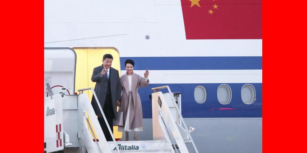 Presidente chinês chega à Itália para visita de Estado