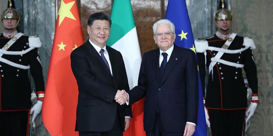 Presidentes chinês e italiano concordam em promover maior desenvolvimento dos laços