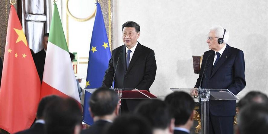 Xi pede que círculos empresarial e cultural contribuam mais para cooperação China-Itália