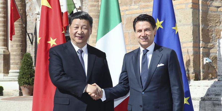Xi e Conte realizam conversações sobre elevação de relações China-Itália para nova época