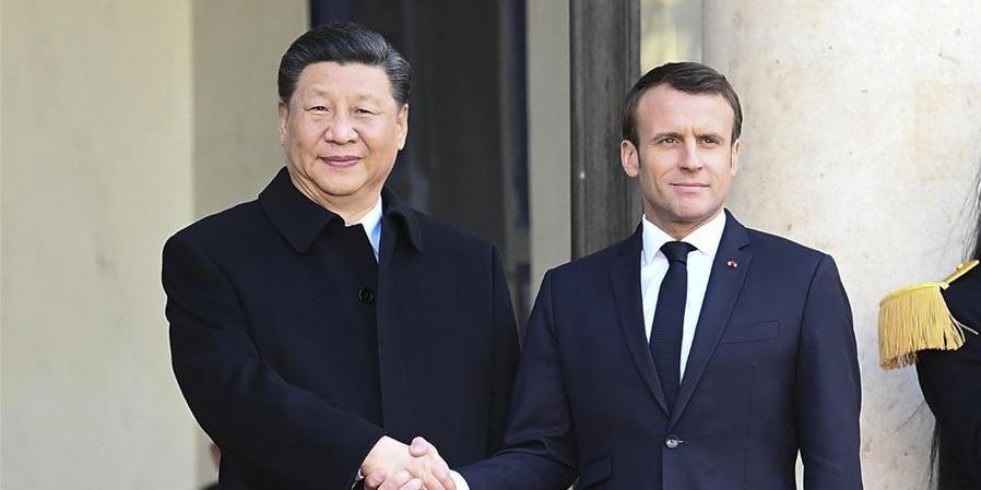 Xi e Macron concordam em fomentar uma mais sólida, estável e vigorosa parceria China-França