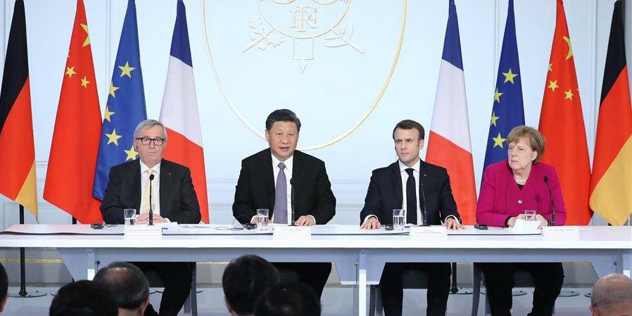 China e França prometem salvaguardar conjuntamente o multilateralismo e melhorar a governança global