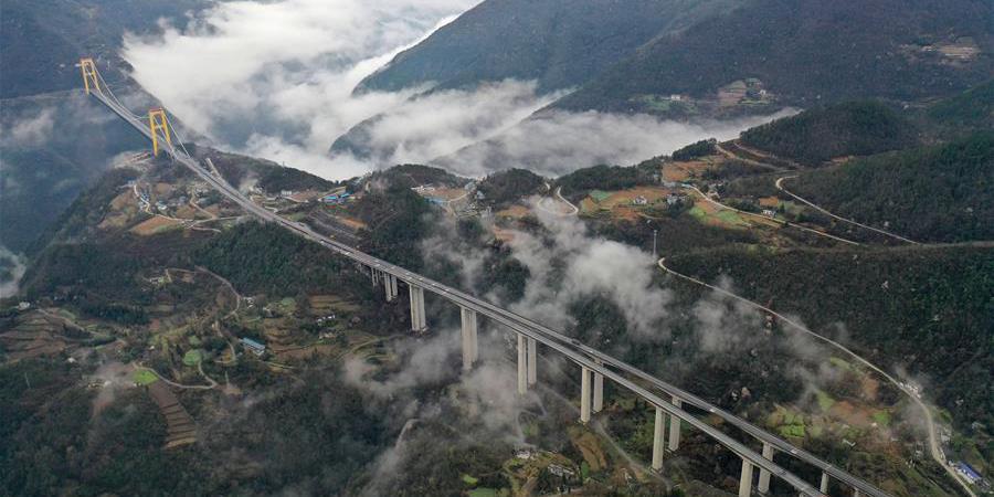 Galeria: Ponte Siduhe da ferrovia Shanghai-Chongqing em Hubei
