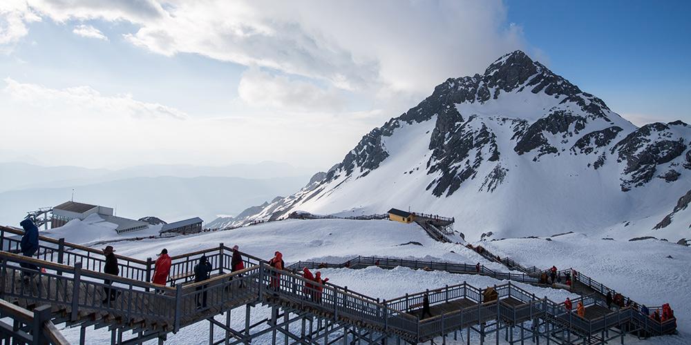 Fotos: cenário da montanha de neve Yulong em Lijiang