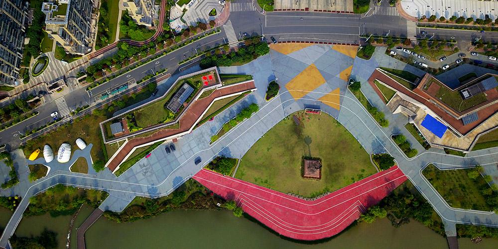 Parque inteligente da Montanha Feifeng abre em Fujian, sudeste da China