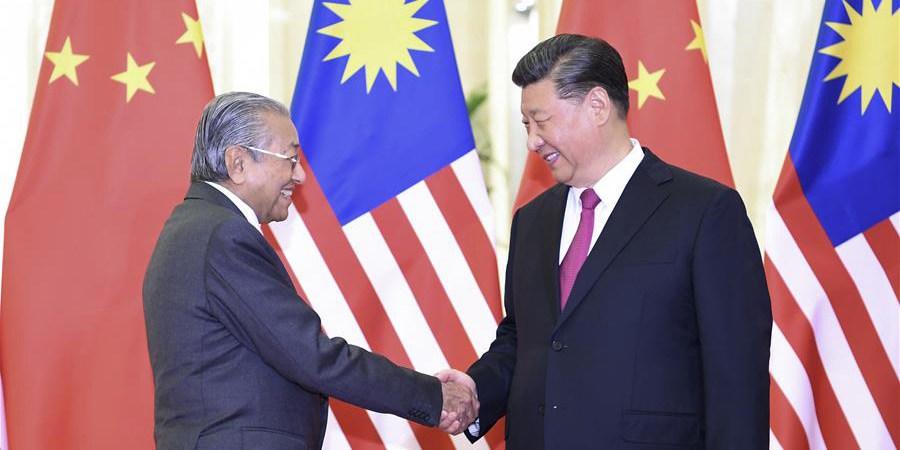 (Cinturão e Rota) Xi Jinping se reúne com primeiro-ministro da Malásia