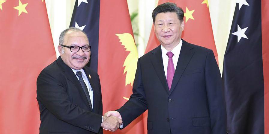 (Cinturão e Rota) Xi reúne-se com primeiro-ministro de Papua-Nova Guiné