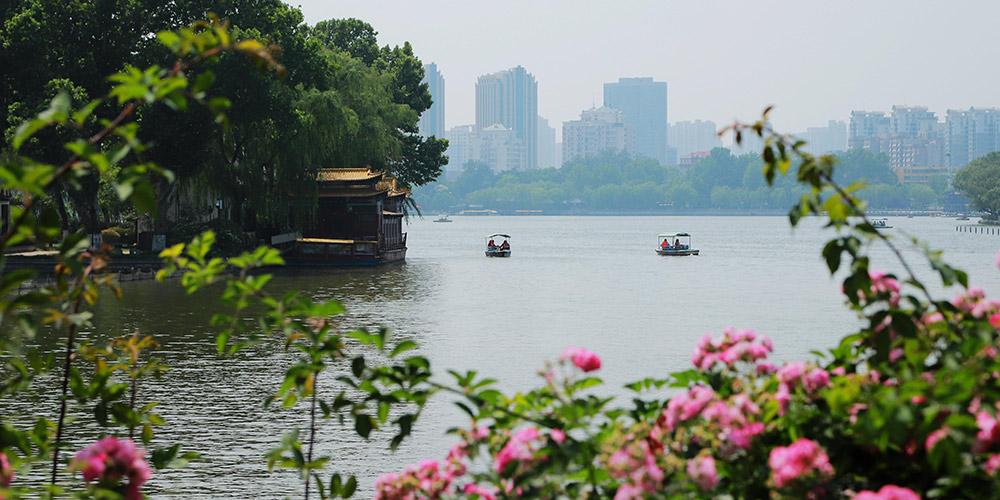 Bela paisagem de Jinan, província de Shandong