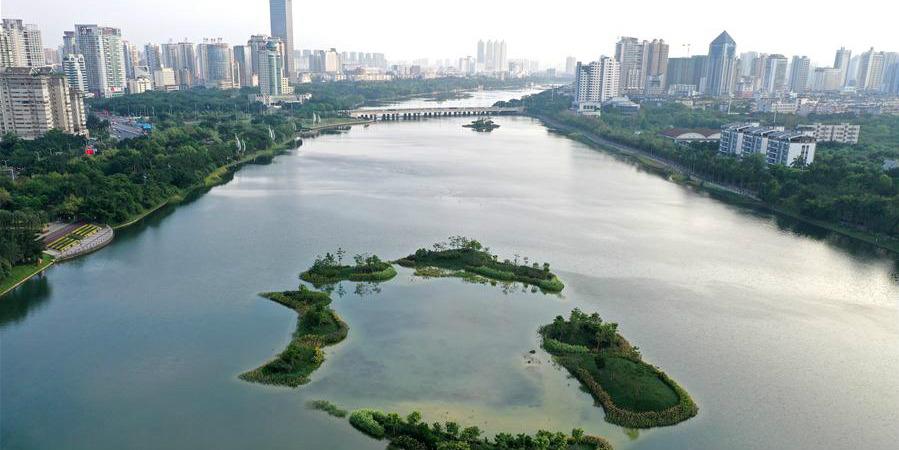 Galeria: lago Nanhu em Nanning, sul da China