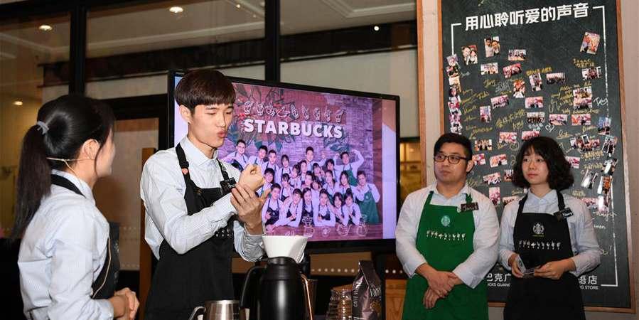Cafeteria em Guangzhou promove 29º Dia Nacional de Ajuda aos Deficientes