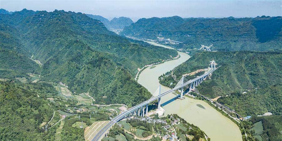 Concluída seção de Guizhou da rodovia Tongren-Huaihua, no sudoeste da China