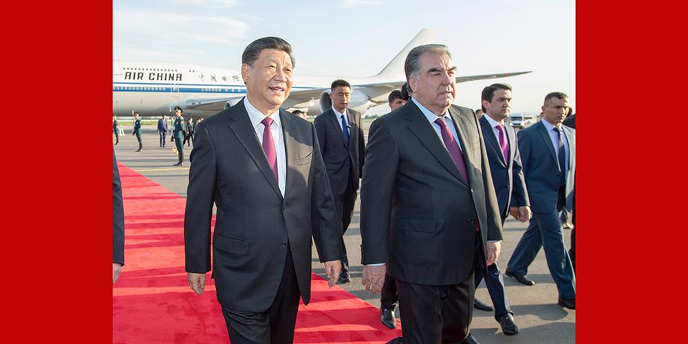 Presidente chinês chega ao Tadjiquistão para cúpula da CICA e visita de Estado