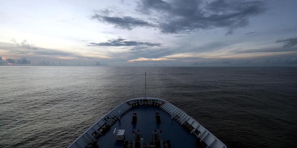 Navio de rastreamento de espaçonave da China Yuanwang-3 cruza Equador
