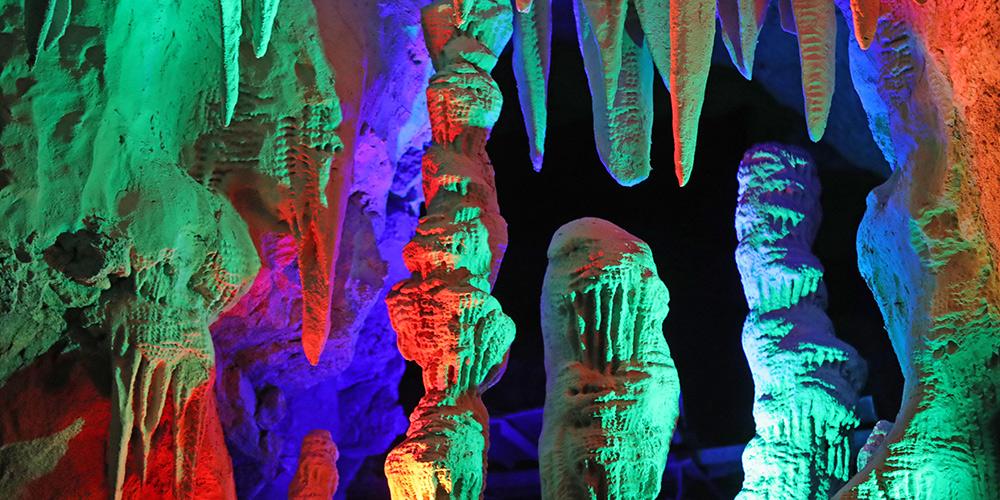 Fotos: paisagem interna da Caverna Cárstica de Tieling em Liaoning