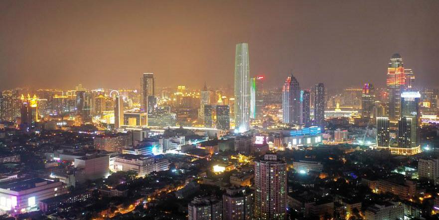 Galeria: paisagem noturna de Tianjin