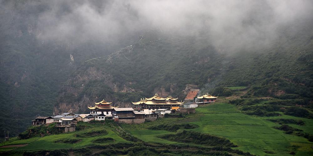 Paisagem da área cênica de Zhagana em Gansu, noroeste da China