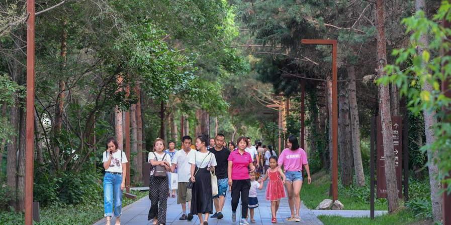 Fábrica se transforma em parque e começa a receber turistas em Jilin, nordeste da China