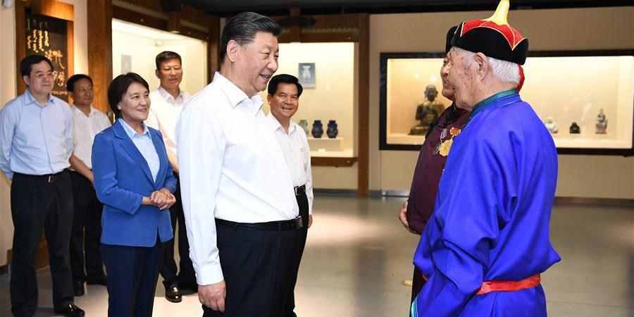 Xi visita a Mongólia Interior em viagem de inspeção